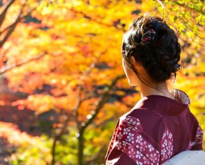 秋の浴衣の着こなし方